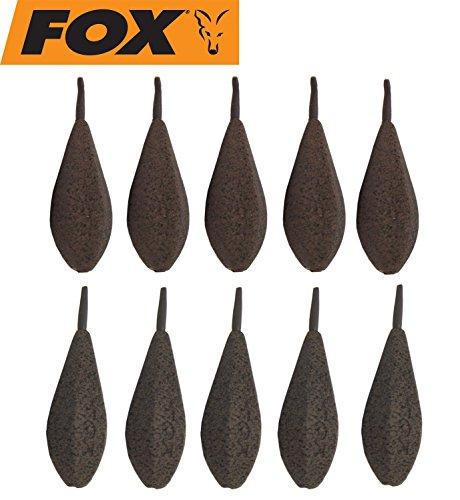 Fox Horizon Inline Leads Bleie Karpfenbleie Blei 10 Inlinebleie, Angelblei für Karpfenmontagen, Gewicht:106g