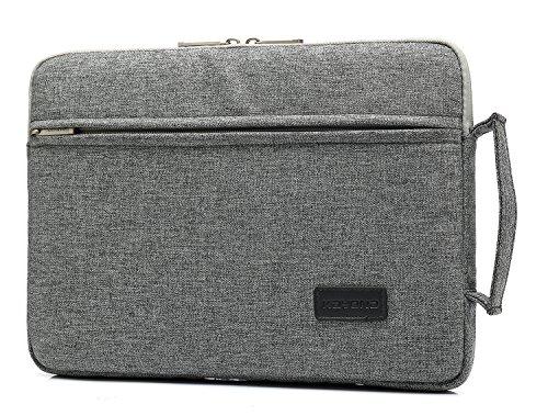 KAYOND 13-13,3 Zoll Laptop Sleeve Hülle Case aus Nylon Wasserdicht Laptophülle für MacBook Pro Retina/MacBook Air/Surface Pro6 / Surface Pro 2017/4 /3 (Grau, 13-13,3 Zoll)