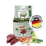 AniForte Natürliches Hunde-Futter Trockenfutter Farms-Lamb 7kg, Herzhaftes Lamm mit Süßkartoffeln, 100% Natur, Allergiker, Getreide-Frei, Glutenfrei, Ohne Chemie, künstliche Zusätze und Vitamine