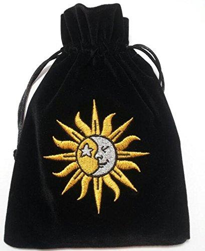 Find Something Different Unisex Kinder Sun/Moon Embroidered Luxury Tarot Velvet Münzbörsen, Mehrfarbig (Multicolour), One Size -