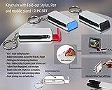 Schlüsselanhänger mit ausklappbarer Stylus, Stift, und Mobile Ständer–(Verwendung für Home/Office/Auto)
