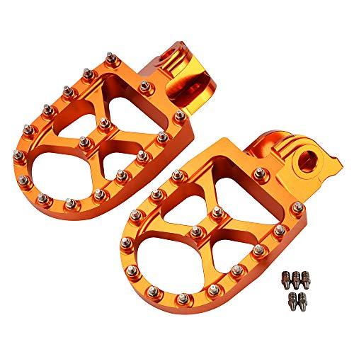 H2Racing CNC Motorräder Fußrasten Pedale Fußrasten für K-T-M 1190 Adventure/R 2013-2016,1050 Adventure 2015-2016,690 Enduro/R/SMC/R 2008-2017,950 Adventure/S 2003-2006