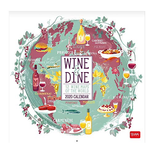 2020 - CALENDARIO DA PARETE - 30X29 cm WINE&DINE