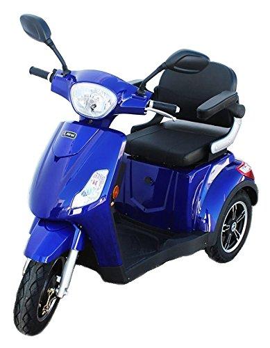 KENROD Scooter Eléctrico 3 Ruedas   para Adultos   50 km Autonomía   Escalada hasta 18°  Luces LED   Mobility...