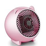 Kleine Raumheizung, Aumkoo 3s Schnelles Aufheizen Tragbare PTC-Keramikheizung Elektrische Tischplatte mit Überhitzung Selbstabschaltung des Heizlüfters für Büro/Bad / Zuhause, Pink