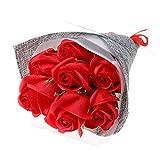 Riuty Boîte Cadeau avec Fleurs de Savon, Bouquet de Fleurs, Savon parfumé pour la fête des mères, fête d'anniversaire, Anniversaire de Mariage, Fournitures pour la fête des maîtres Rose Jaune