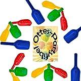 Mehlschaufel Sand-Schaufel 12 Stück farblich sortiert