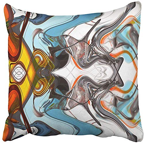 Alfreen 18'X18' Throw Pillow Cover Blue Abstract Seafoam Detail on Waters Edge Sunny Windy Day in Palma De Mallorca Spain Balearic Decorative Pillow Case Home Decor Square Pillowcase