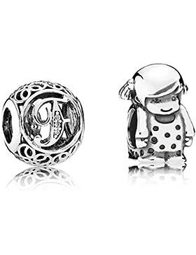 Pandora Charms Vintage F und Kleines Mädchen 08204