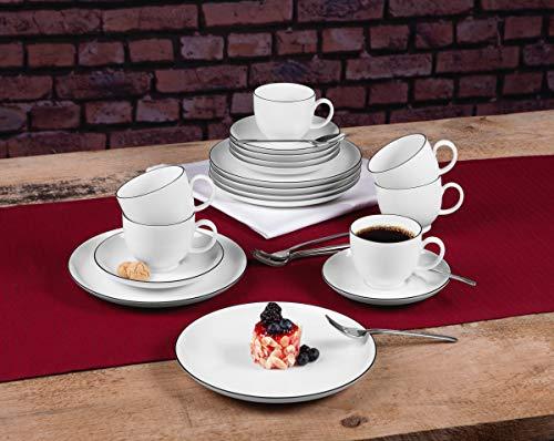 Seltmann Weiden 001.737147 Kaffeeservice 18-teilig Lido Black Line