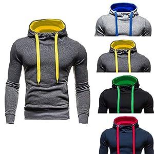 Amphia Langärmliges Sweatshirt mit Kapuze Daunenjacke – Herbst-Winter-Neue Art-Reine Farben-mit Kapuze der Art- und…