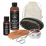 Beard Care Kit, Breett Moustache Care Gift Set Including Beard Wash, Beard Brush