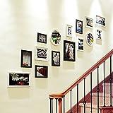 YGR XIANGK Klassische Fotorahmen Einfache Flur Holz Collage Collage Wohnzimmer Schlafzimmer Rahmen Wand Kreative Mix Moderne Einfache Esszimmer Foto Wand (Farbe : C)