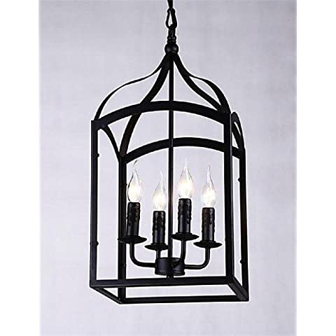 ZHY Máximo 60W/moderno / contemporáneo clásico/tradicional rústica/Lodge / Retro / Linterna / País / Mini globo colgante de techo de metal de estilo Luces luces colgantes