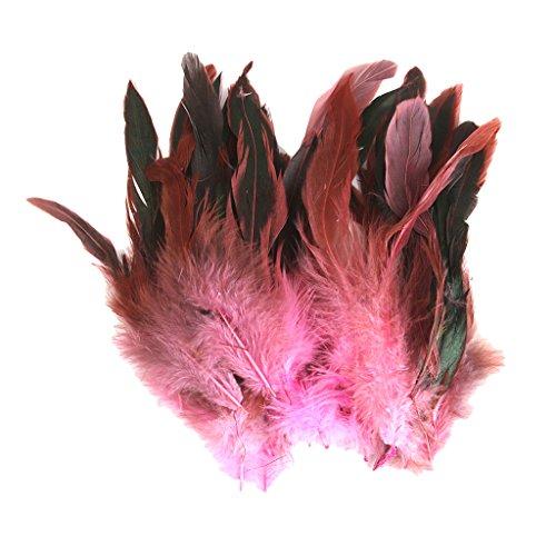 nte Hahnenfedern Flügelfedern Hahn Federn Feather Schmuckfeder zum Basteln Dekorieren - Rosa (Diy Kostüme Für Mich)