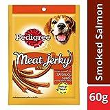 #10: Pedigree Meat Jerky Stix, Smoked Salmon Flavoured Adult Dog Treats – 60 g
