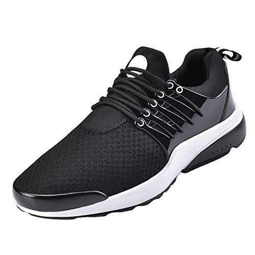 NEOKER Men's Women's Gym Mesh Running Trainers Athletic Walking Sport Shoes Black...