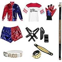 Darcylibisy Juego de Halloween Harley Quinn Costume Suicide Squad Ropa de  Cosplay para Mujer 9286f72cab71