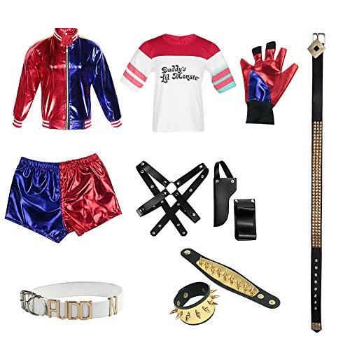 Halloween Sets Rollenspiel Harley Quinn Kostüm Selbstmord Squad Cosplay Kleidung für Frauen (S)