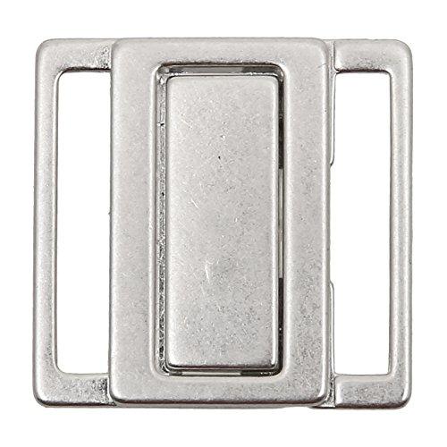 Bikiniverschluss Metall silber Steg 20 mm