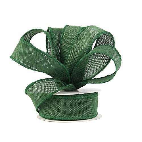 Jute Band perfekt für Hochzeit Home Dekoration Papier Bögen Made handgemachte Kunst Basteln 1-1/2Zoll von 9,1Spule, 12Farben Christmas Green (Christmas Bogen Dekoration)