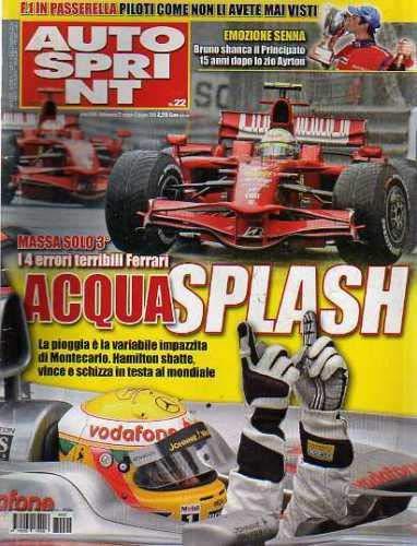 Autosprint Auto Sprint 22 Maggio Giugno 2008 Massa, Hamilton, Bruno Senna