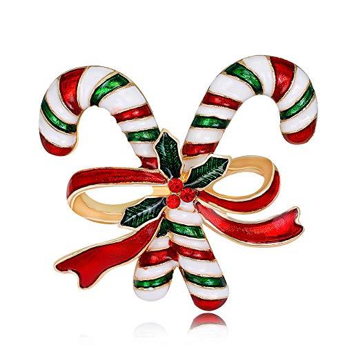 Broche Navidad Cristal Diamantes imitación Multicolor