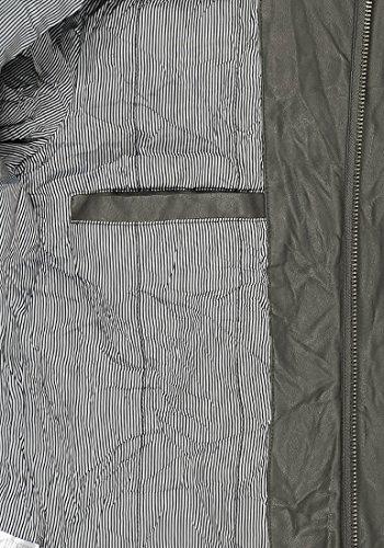 INDICODE Moreno - Veste en Similicuir - Homme Dark Grey