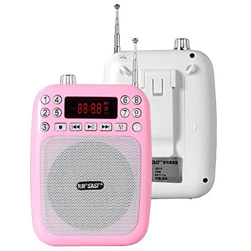 JAYLONG Amplificatore vocale Mini Altoparlante Portatile Ricaricabile con Microfono Auricolare per Guide turistiche Insegnanti Allenatori Supporto