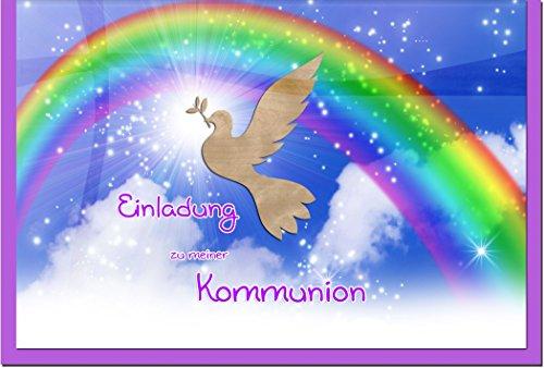 """metALUm Einladungskarten zur Kommunion (10 er Set)\""""Regenbogen\"""""""