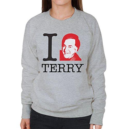 I Heart Terry Wogan Women's Sweatshirt Heather Grey