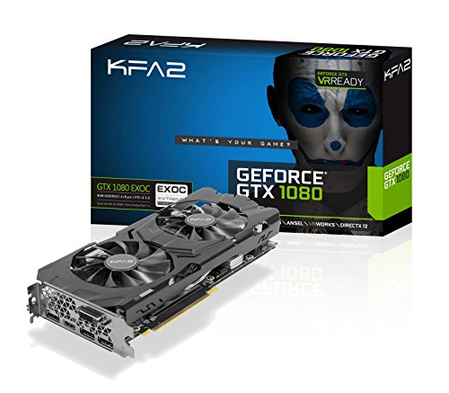 KFA2 GeForce GTX 1080 EXOC PCI-E Gaming-Grafikkarte, 8GB GDDR5X, schwarz
