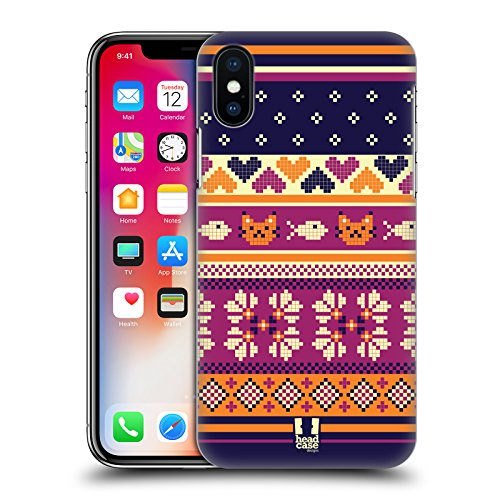 Head Case Designs Folklore Russo Stampe Etniche Multiculturali Cover Retro Rigida per Apple iPhone X Gattino Del Nord