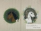 Mamasliebchen Jersey-Stoff Energy #Taupe (1Panel/ ca.0,6 m) Pferd Schimmel Panel