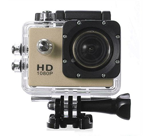 Lagfly Golden edition 8 MP HD 1080P DV Sports Action Camera with 2 inch LCD & Waterproof up to 30 Mtr