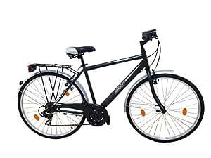 F.lli Schiano Urban 28, City Bike Unisex-Adulto, Nero, L