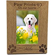 Personalised Gifts Personalised Pet Dog Photo Frame 4 x 6 Dog Remembrance Cat Puppy ENGRAVED Kitten Paws Print Picture Frame