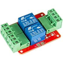 SunFounder DC 5V Power Supply 2 Channel Relay Module with Optocoupler High Level Triger expansion board