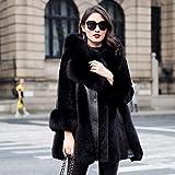 GUDUHAO Daunenjacke Natürliche Kleidung Damen Kragen Lederjacke Winterjacke Damenkleidung Jacke