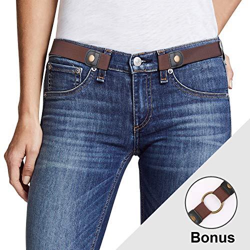 93b094692 Women No Buckle Elastic Belt Ladies Invisible Waist Plus Size Belt for  Jeans Pants Dresses By