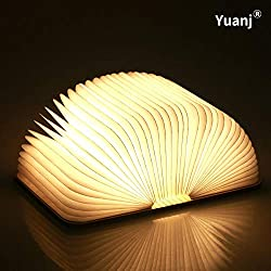 Lampe delecture pliante, rechargeable par USB, lumière LED magnétique en bois, lumières décoratives, lampe de table, lampe de bureau avec batterie lithium 880 mAh