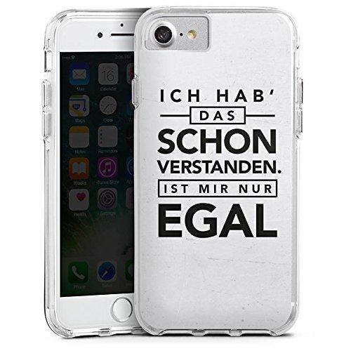 Apple iPhone 6s Bumper Hülle Bumper Case Glitzer Hülle Sprüche Sayings Phrases Bumper Case transparent