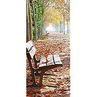 Posterdepot Poster Carta Da Parati porta solitaria Park bank una Allee–Autunno atmosfera–dimensioni 93x 205cm, 1pezzi, ktt0640