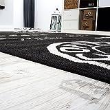 Teppich Modern Flachgewebe Sisal Optik Küchenteppich Anthrazit Grau, Grösse:80×200 cm - 3