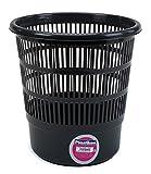 PLASTIKEN - Papelera Rejilla Negra Plastiken 31X30 Cm