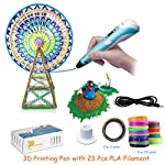 3D Printing Pen Intelligent 3D Pen with LED Display PLA ABS Filament Refills USB Charging Perfect Creative Arts Crafts Gift for Kids Adults Childrens Day Present Creativity Creativity Imagination Development