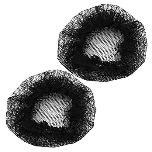 Nopea Haarnetz Perückenunterziehhaube Haar Netze unsichtbaren Elastischen Rand Mesh Elastische Haar Mesh Netz 5 Stück Schwarz