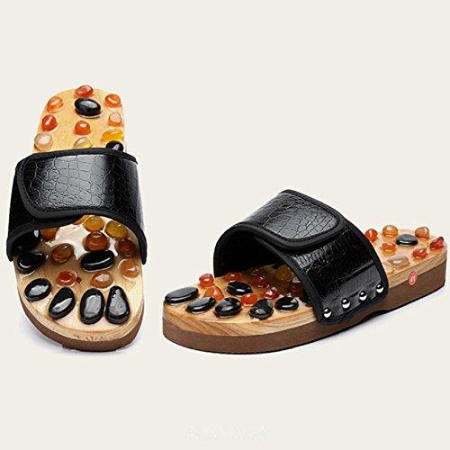 Natürliche Achat Stein Massage Hausschuhe Akupressur Fußmassage Schuhe , 41