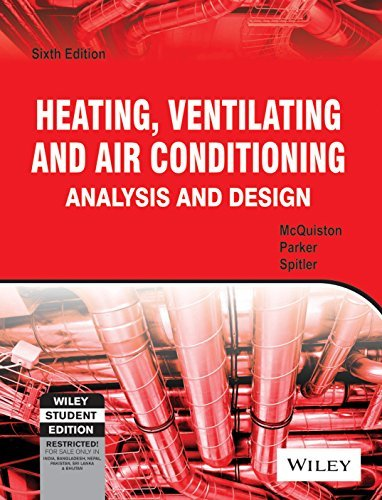 Heating, Ventilating and Air Conditioning Analysis and Design by McQuiston (2011-11-07)