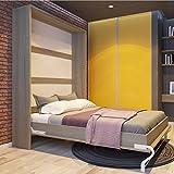 Lit escamotable de 140 cm Vertical SMARTBett, Armoire Lit, Le lit mural pliant (chêne Sonoma)